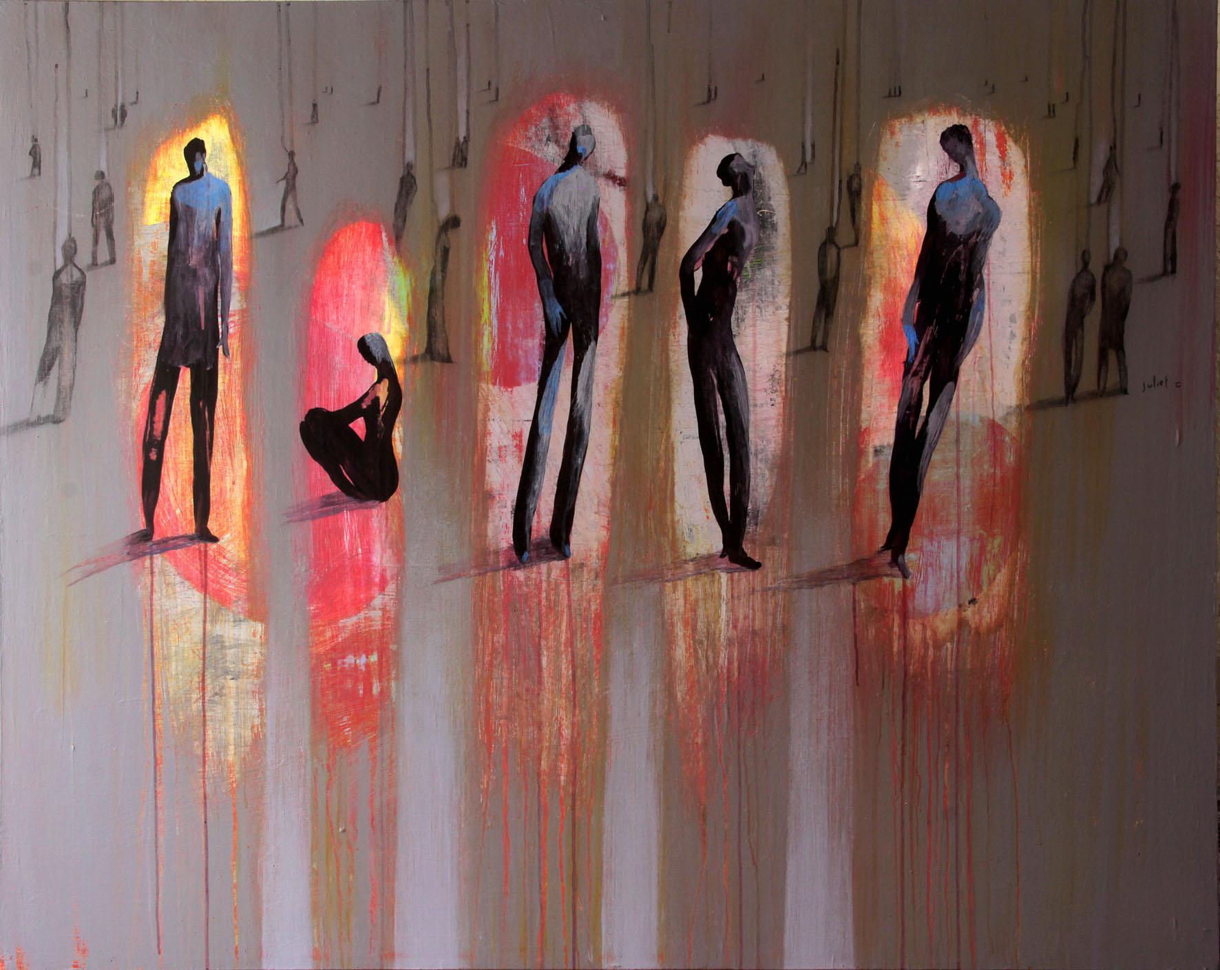 L'ÉCLAIRCIE acrylique sur toile 120x150 cm