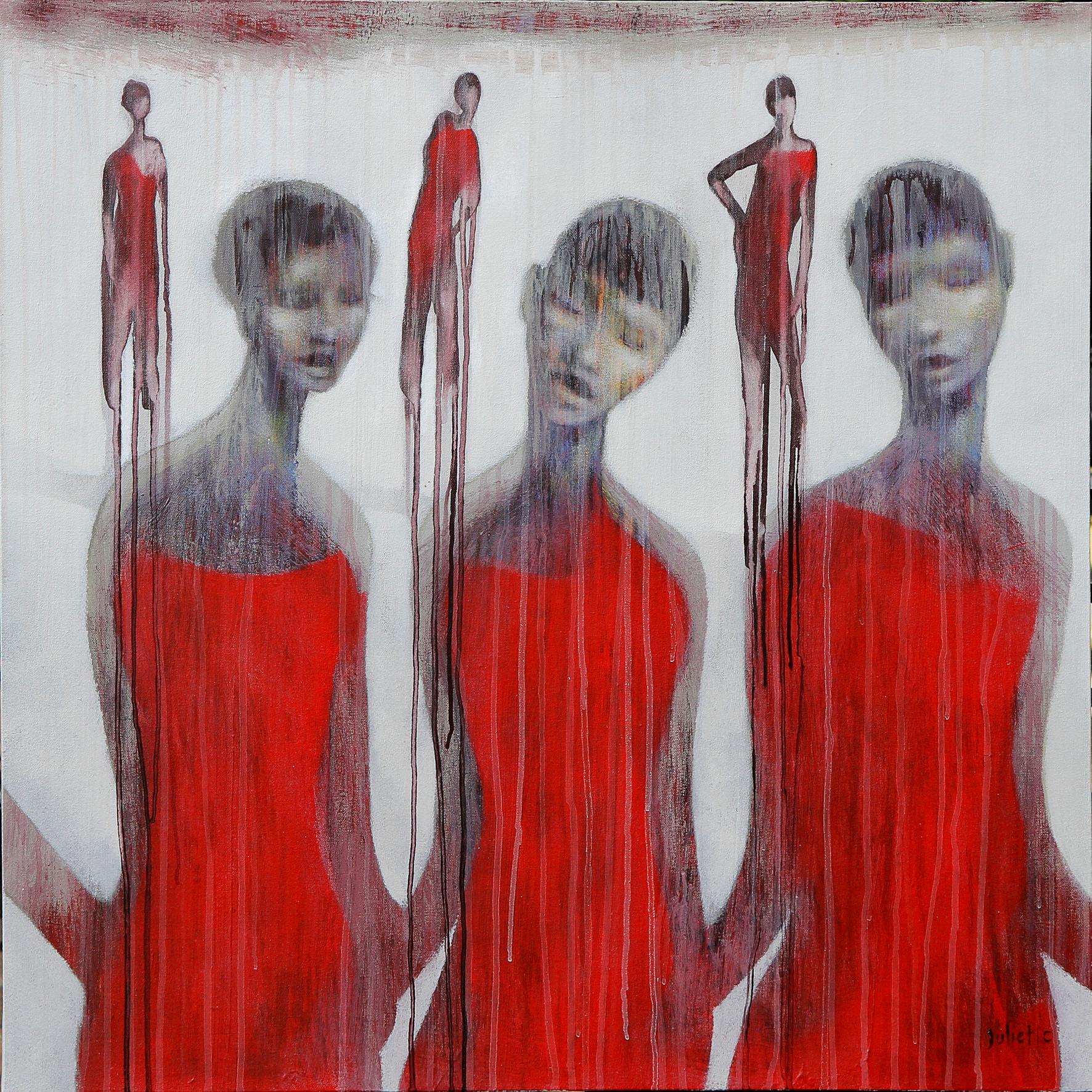 3 SŒURS acrylique sur toile 80x80 cm