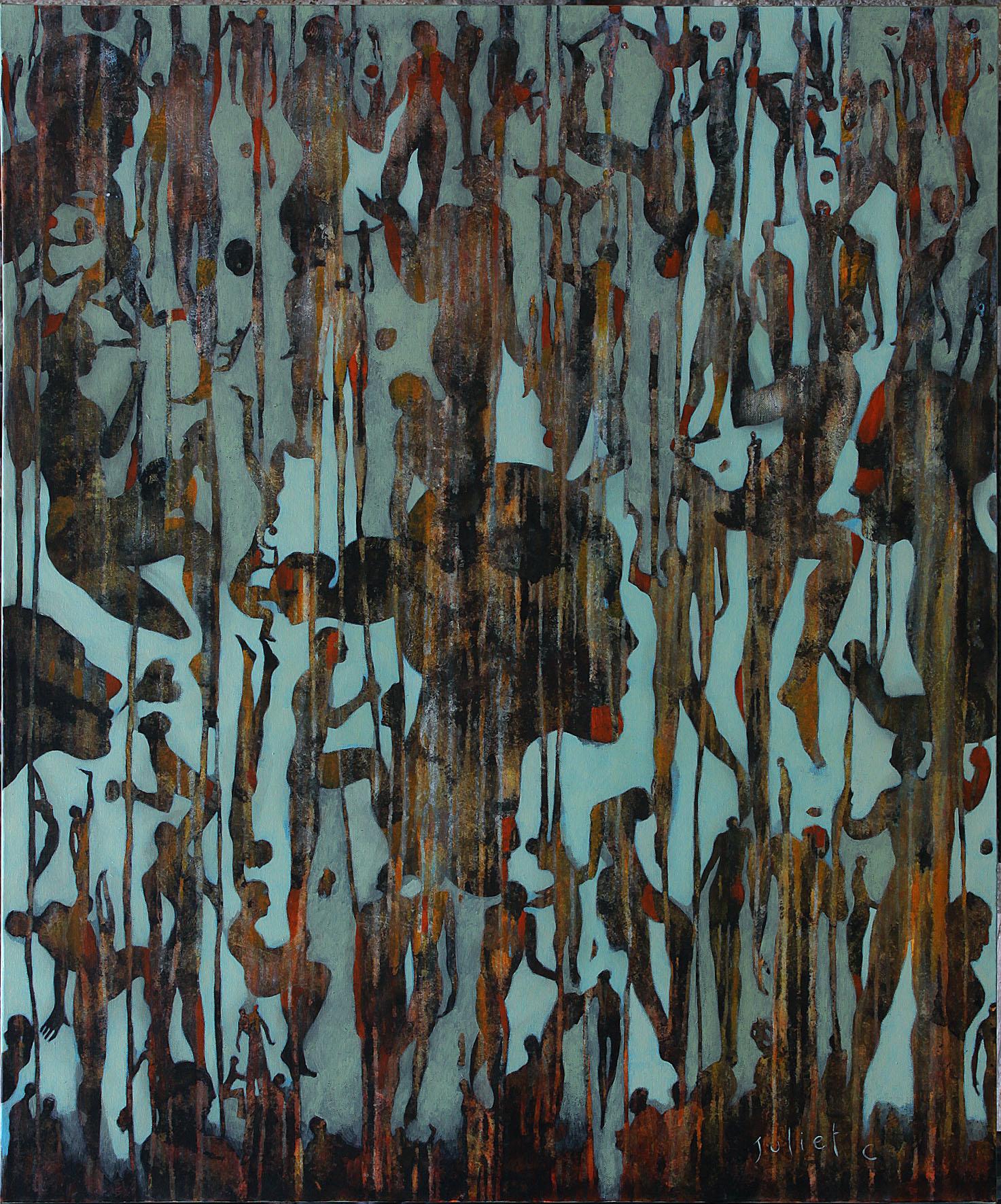 HIVER UN CIRQUE acrylique sur toile 120x100 cm