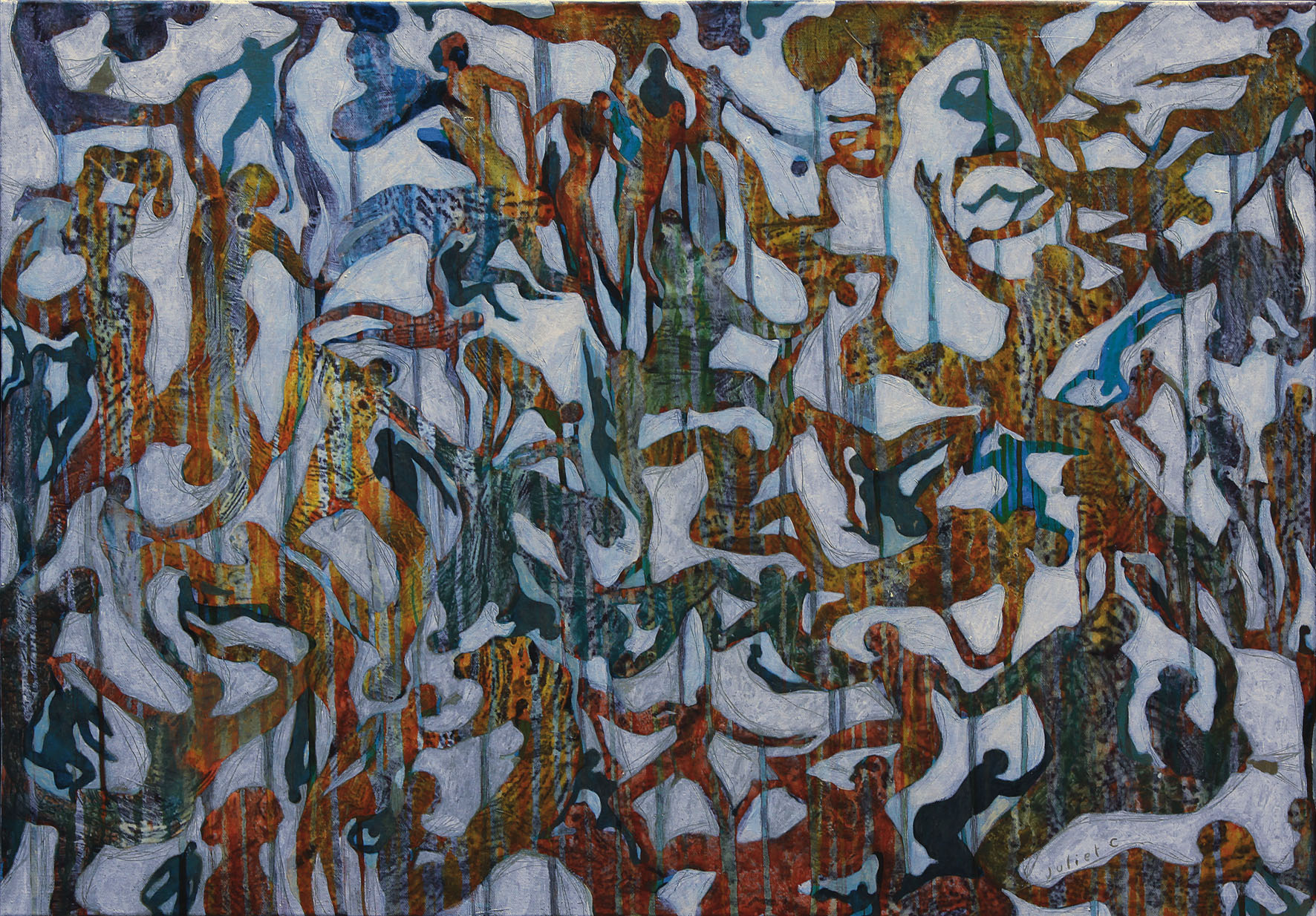 JAGUAR LIKE THE CAR acrylique sur toile 70x100 cm