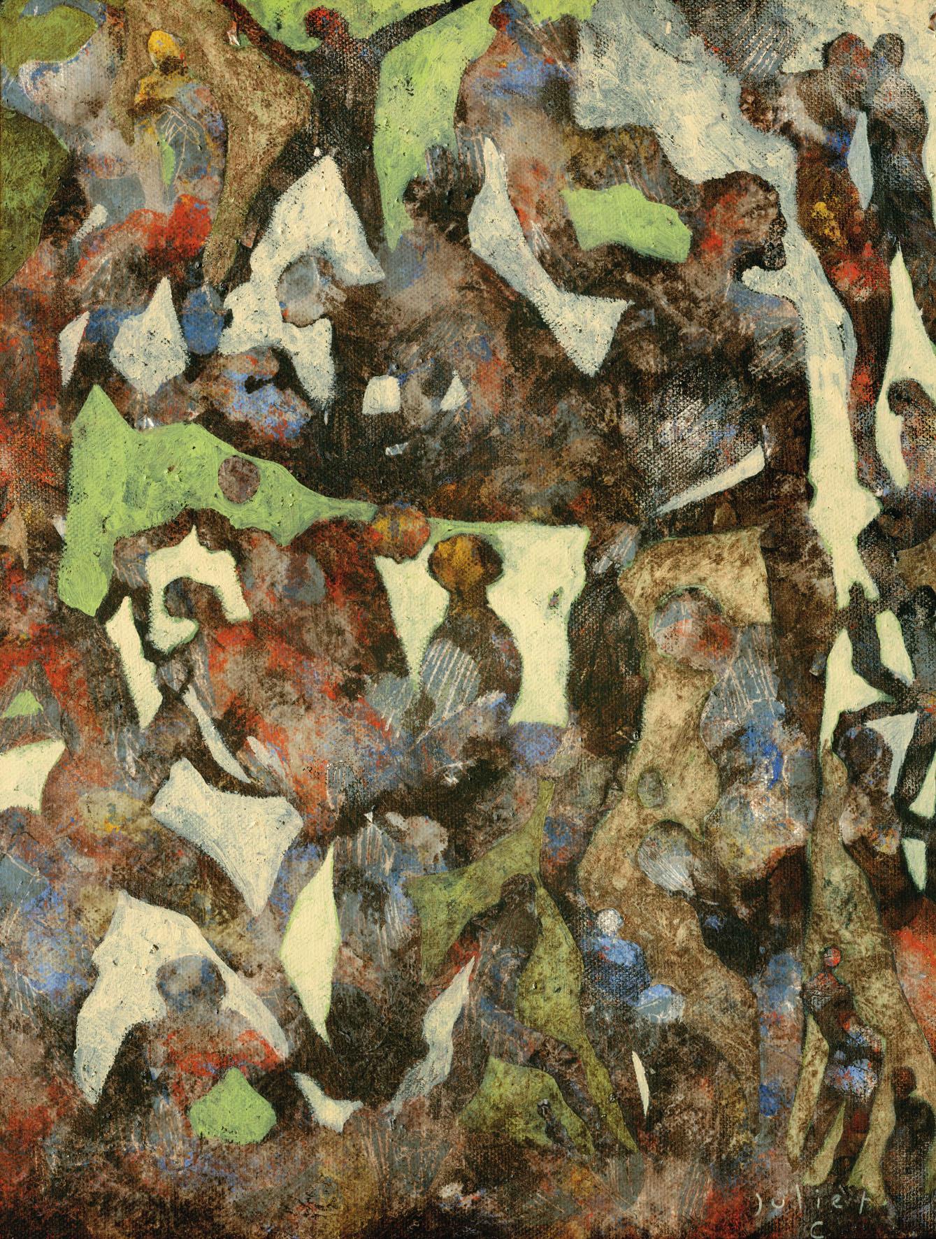 JEUX DU STADE acrylique sur toile 41x33 cm