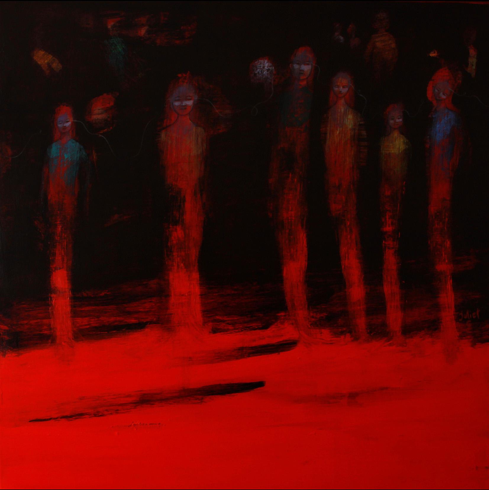 ADOLESCENCE /  Peinture sur toile 100x100 cm