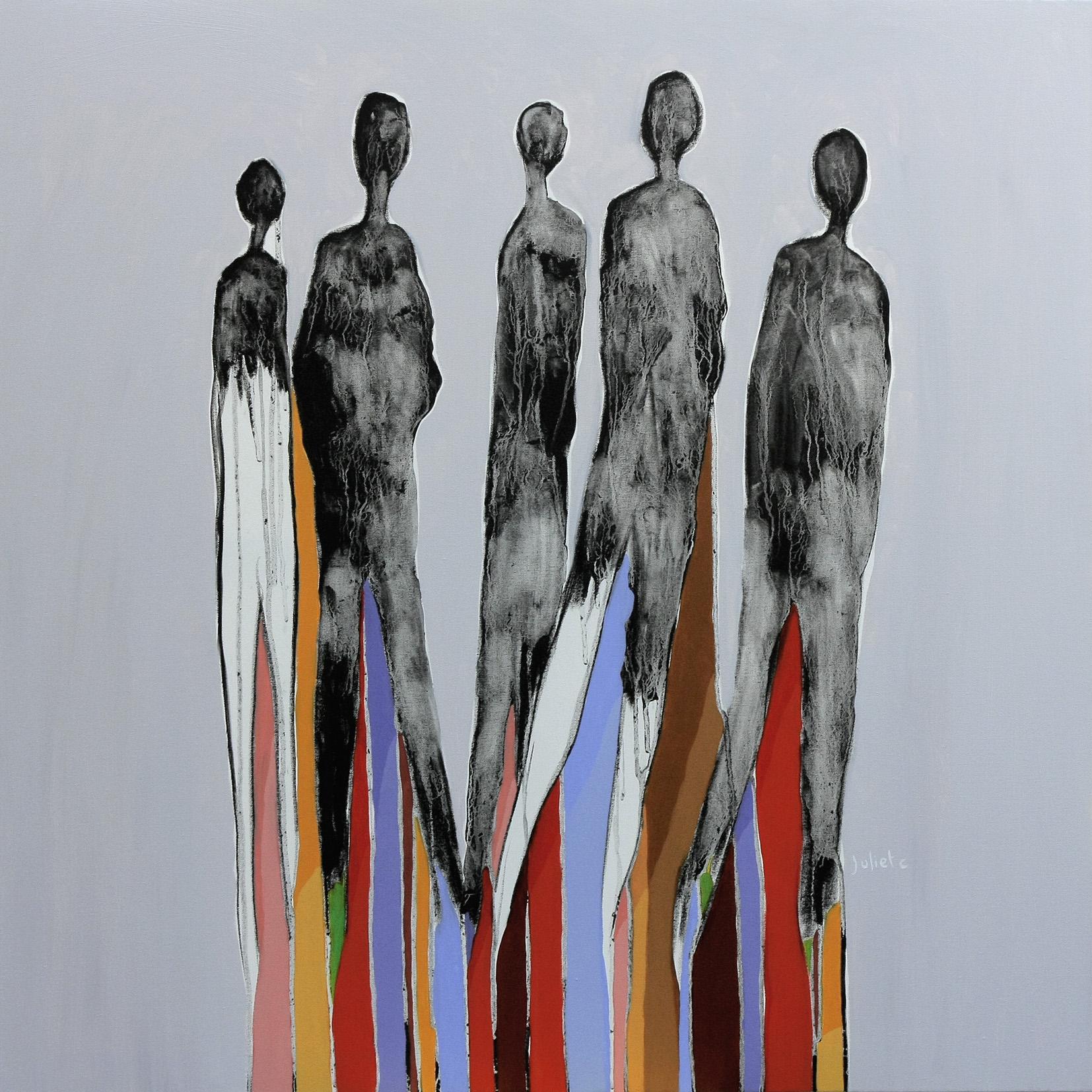 I.K.E.A.? acrylique et fusain sur toile 100x100 cm