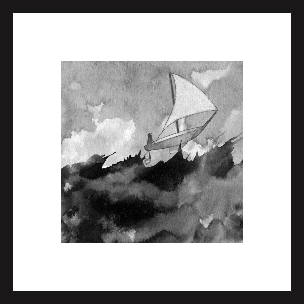 encre et lavis sur papier aquarelle 300 g - 13x13 cm
