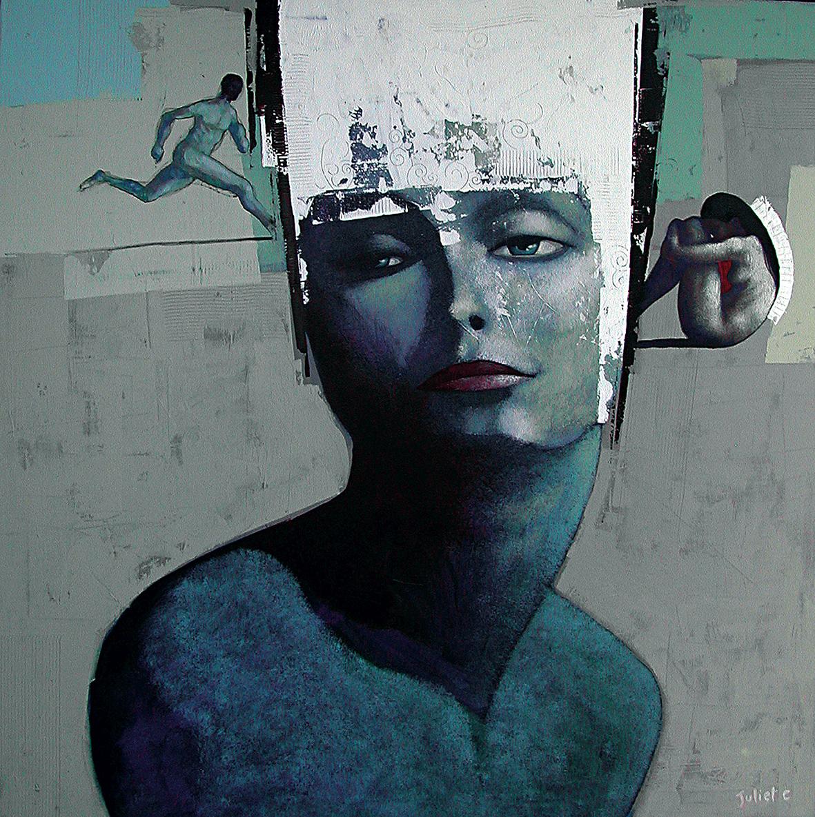 PENSÉES D'ARGILE / acrylique sur toile 100x100 cm